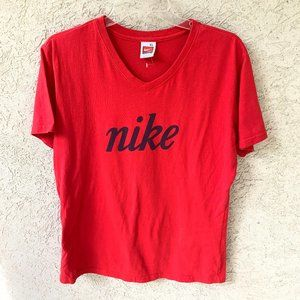Nike Short Sleeve Top Red Women's XL
